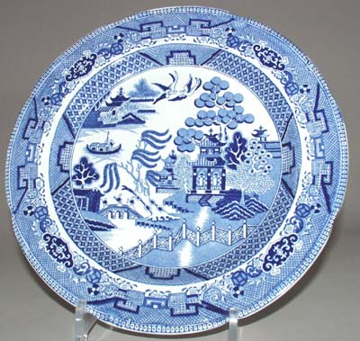 Cambrian Pottery Willow Plate c1815
