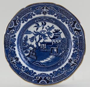 Burgess and Leigh Willow Plate c1930s to 1960s