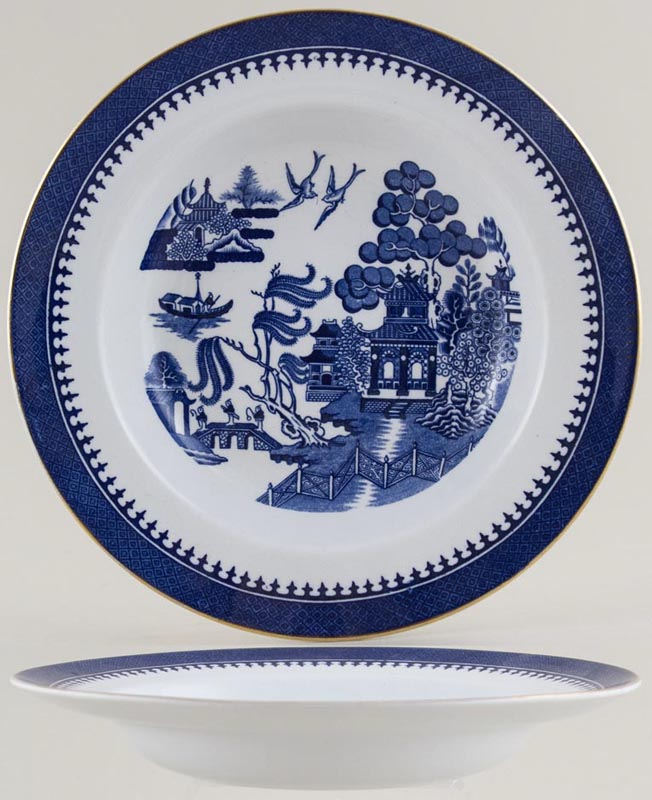 Minton Willow Soup or Dessert Plate c1929
