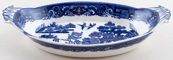 Spode Willow Dish oval c1930s