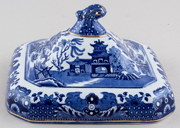 Burgess and Leigh Willow Vegetable Dish Cover c1920s