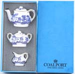 Miniature Teapot Sucrier and Jug c1960 to 1980