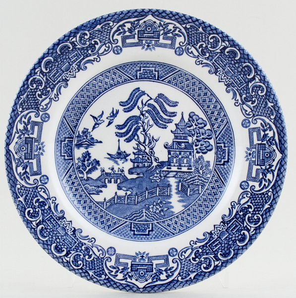 English Ironstone Tableware Willow Plate c1980s