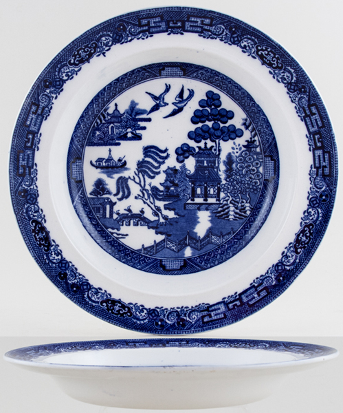 Wedgwood Willow Soup Plate c1910