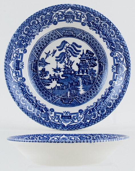 English Ironstone Tableware Old Willow Fruit Saucer | Lovers of Blue ...