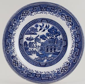 Washington Old Willow Plate c1950s