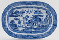 Unattributed Maker Willow Platter small c1840