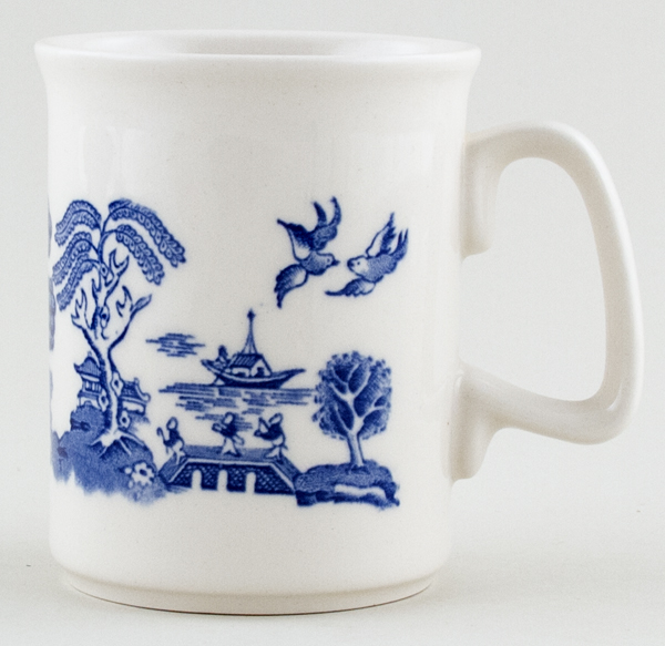 English Ironstone Tableware Willow Mug c1990
