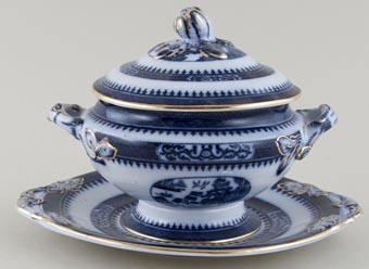 Minton Willow Sauce Tureen c1926