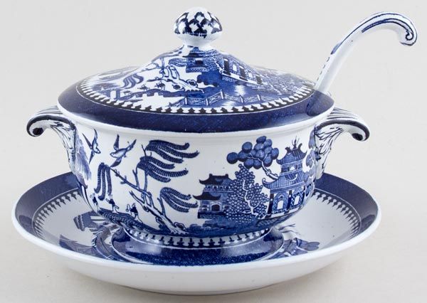 Minton Willow Sauce Tureen c1928