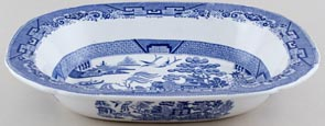 Unattributed Maker Willow Pie Dish large c1880