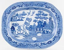 Unattributed Maker Willow Meat Dish or Platter c1829