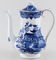 Burgess and Leigh Willow Coffee Pot c1930s