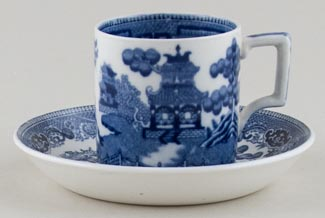 Wedgwood Willow Coffee Can and Saucer c1930