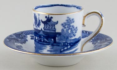 Burgess and Leigh Willow Coffee Can and Saucer small c1930s