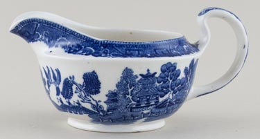 Unattributed Maker Old Willow Sauce Boat c1930s