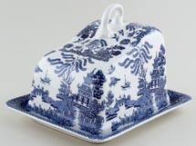 Regal Blue Willow Cheese Dish large c1990s