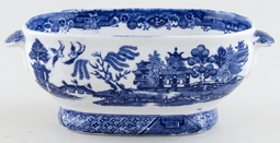 Unattributed Maker Willow Sauce Tureen c1880