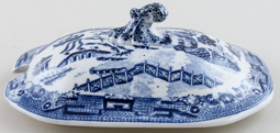Unattributed Maker Willow Sauce Tureen Lid c1840