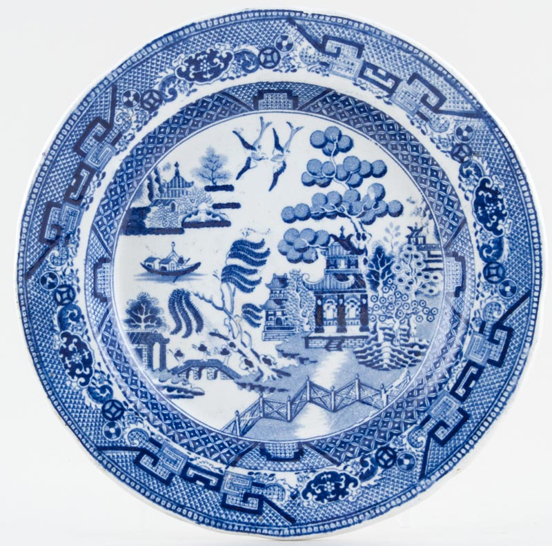 Unattributed Maker Willow Plate c1880
