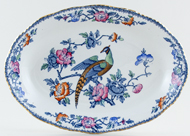 Woods Mayfair blue with colour Platter small c1920