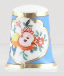 Royal Worcester Cut Fruit colour Thimble
