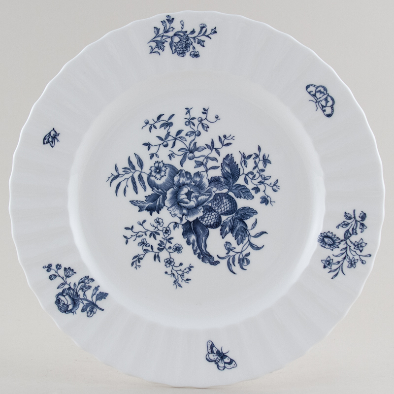 Royal Worcester Blue Sprays Plate c1950s