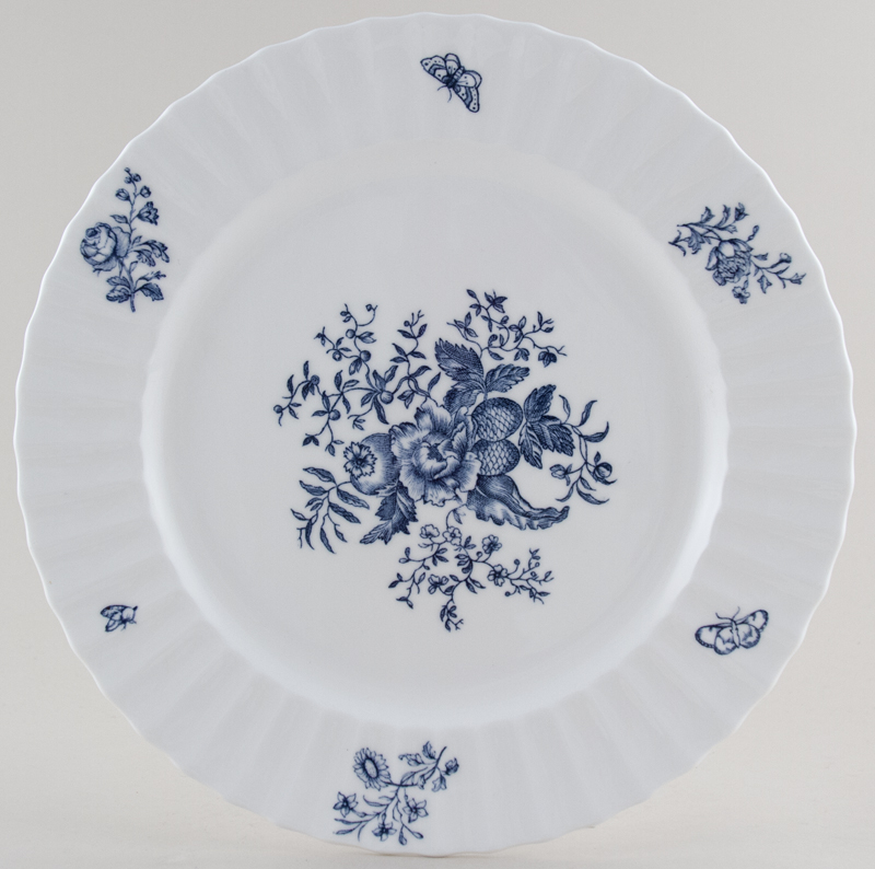 Royal Worcester Blue Sprays Plate c1960s