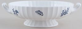 Royal Worcester Blue Sprays Vegetable Dish base only c1960s