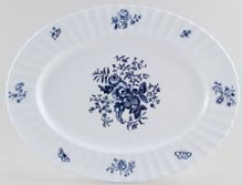 Royal Worcester Blue Sprays Meat Dish or Platter c1960s