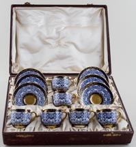 Coffee Cups & Saucers boxed set c1911