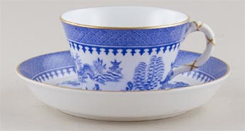 Royal Worcester Chinoiserie Cup and Saucer c1883