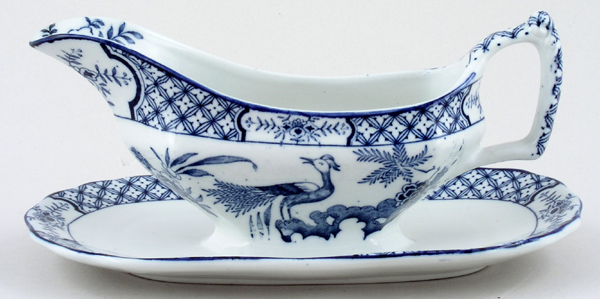 Woods Yuan Sauce Boat and Fixed Stand c1920s