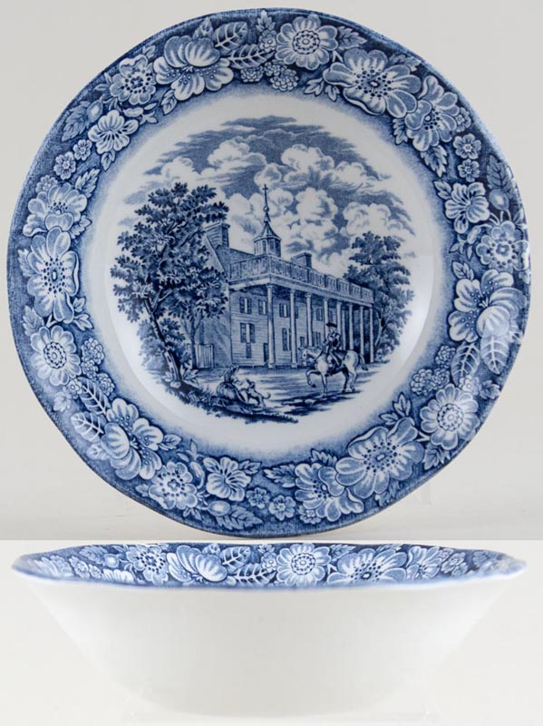 Wedgwood and Co Liberty Blue Cereal or Dessert Bowl Mount Vernon c1970s
